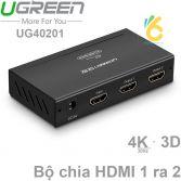Bộ chia cổng HDMI 1 ra 2 Hỗ trợ full HD Chính hãng Ugreen 40201 Cao cấp