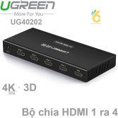 Bộ chia cổng HDMI 1 ra 4 Hỗ trợ full HD Chính hãng Ugreen 40202 Cao cấp