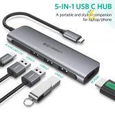 Cáp chuyển đổi Type-C sang HDMI/ Hub USB 3.0 hỗ trợ sạc cổng USB-C chính hãng Ugreen