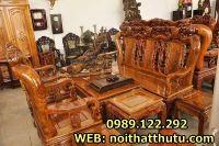 Những bộ bàn ghế phòng khách giả cổ đẹp trang trí phòng khách