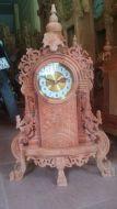 Đồng hồ để bàn gỗ hương đỏ, kích thước Cây Đồng Hồ Để Bàn, Gỗ Hương Đỏ ,kích thước:  cao 74, dài 43, sâu 13