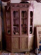 tủ rượu lục giác gỗ hương vân 1m4