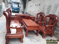 Bộ Bàn Ghế Quốc Voi Cột 12 Gỗ Hương Vân