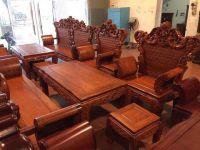 Bộ Bàn Ghế Phòng Khách Hoàng Gia Gỗ Hương Vân