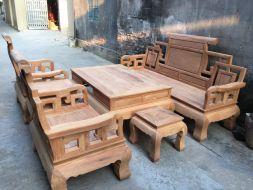 Bộ Bàn Ghế Phòng Khách Sơn Thủy Gỗ Gõ đỏ ( gỗ cate)