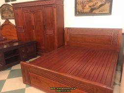 Giường ngủ gỗ gụ 1m8 * 2m