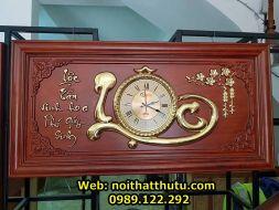 Tranh Chữ Lộc Gỗ Hương Đỏ Mạ Vàng dài 127