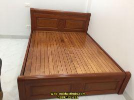 Giường Ngủ Xoan Đào Giáp Phản 1m6