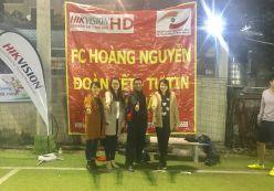 Hoàng Nguyễn tham gia giải bóng đá Hikvision Cúp 2017