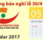 Thông Báo Nghỉ Lễ 30/4 -1/5