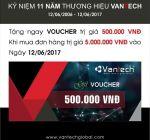 Tặng Voucher 500.000đ khi mua hàng camera Vantech ngày 12/6/2017