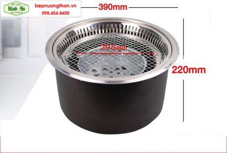 Bếp nướng than âm bàn hút khói đáy 2018