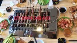 Bếp Nướng Than Không Khói Tự Xoay