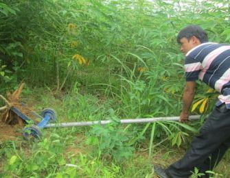 Creation of cassava spit machine