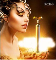 Dụng cụ mát xa mặt REVLON mạ vàng 24 K, căng da mặt xóa nếp nhăn
