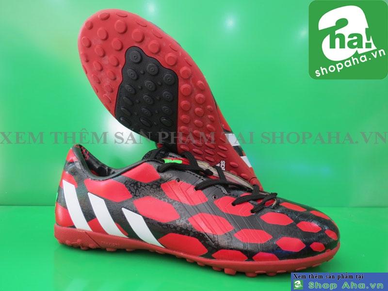 Giày Đá Banh Màu Đỏ Viền ĐenNHT06