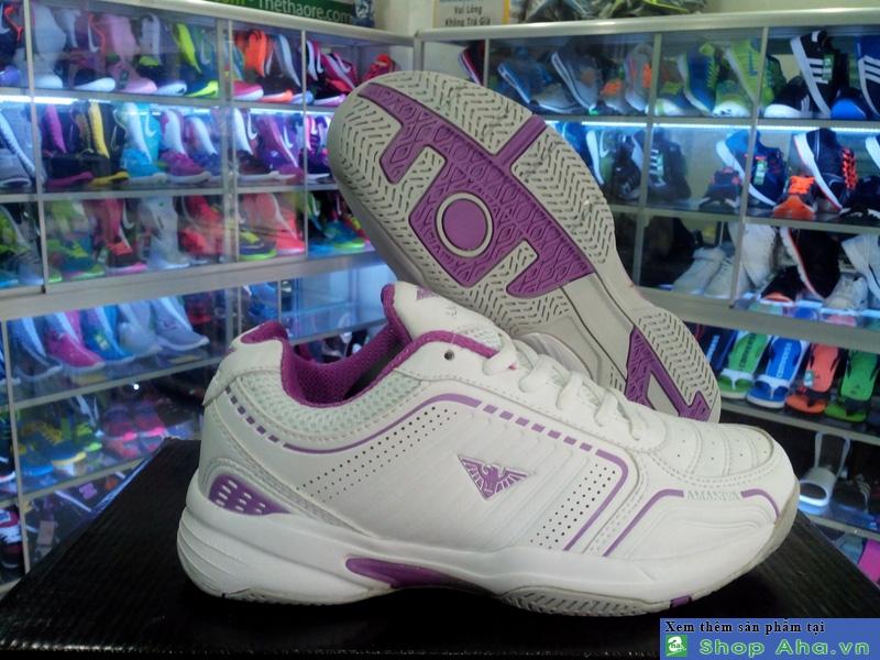 Giày Tennis Màu Trắng TímCCTT010