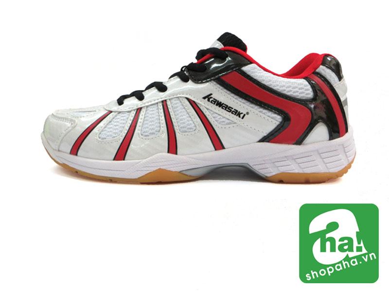 Giày Cầu Lông Màu Trắng Viền Đỏ CLM03
