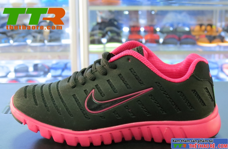 Giày Thể Thao Nữ Nike Nhẹ Đen Hồng GNN02