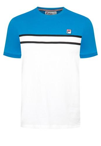 áo FiLa trắng xanh