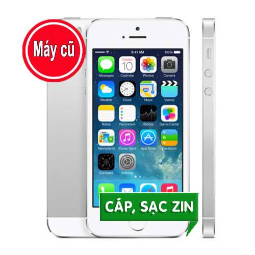 IPHONE 5S 32GB MÀU TRẮNG QUỐC TẾ (MÁY CŨ 99% Zin Nguyên Bản)