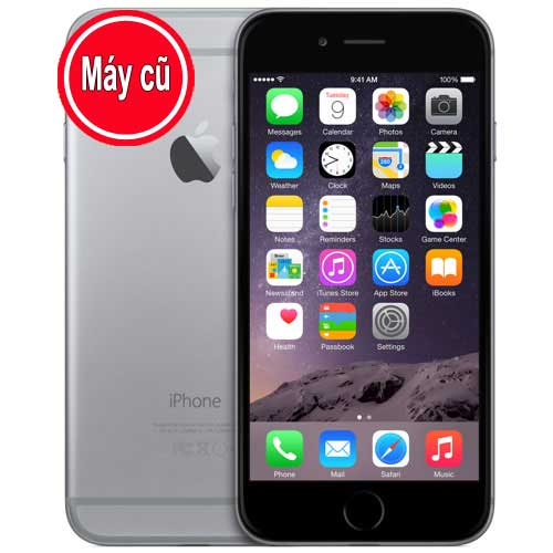 IPhone 6 128GB Màu Đen Gray Quốc Tế (Máy Cũ 98% Zin Nguyên Bản)