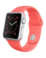Apple Watch Sport MJ2W2 38mm Silver Aluminum Case with Pink Sport Band