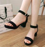 Giày sandal cao gót đế vuông giá rẻ
