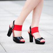 Sandal Cao gót phối màu cao cấp