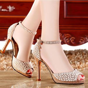 Giày cao gót cao cấp đính đá