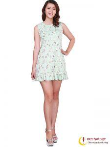 Đầm xoè ren hoa văn thời trang