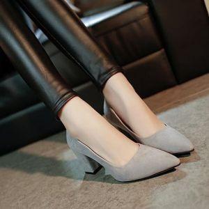 Giày bít gót vuông kiểu mới hàng cao cấp