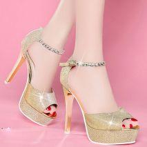 Giày cao gót cao cấp quai đá Korea