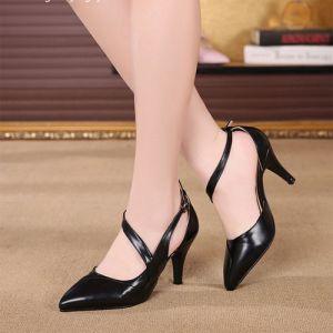 Giày cao gót phối xoắn cao cấp