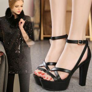 Giày dây da cao gót cao cấp