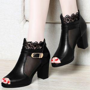 Giày boot cổ lưới hoa (Hàng Nhập )