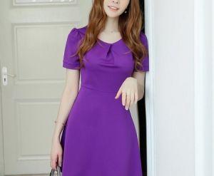 Đầm xuông Violet xòe cá tính