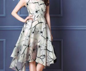 Đầm xòe hoa họa tiết