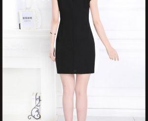 Đầm ren đính ngọc trai đen