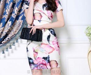 Đầm cao cấp họa tiết hoa