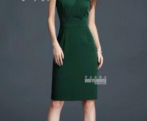 Đầm công sở cao cấp xanh