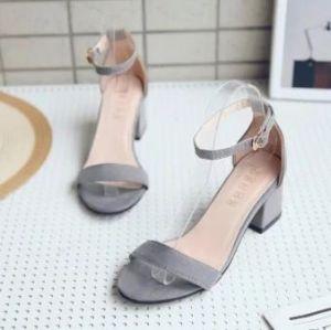 Giày sandal cao gót vuông da lộn