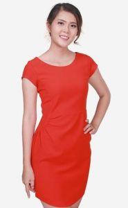Đầm suông tay ngắn