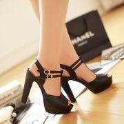 Giày cao gót thời trang 2 quai cài cao cấp