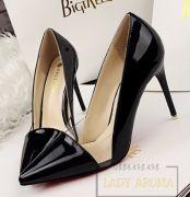 Giày cao gót thời trang cao cấp phối mê ca