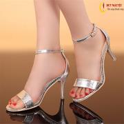 Giày cao gót da rắn