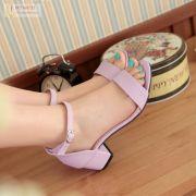 Giày gót vuông bảng ngang cao cấp