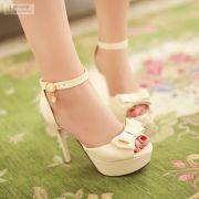 Giày cao gót nơ 2 tầng cao cấp