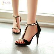 Giày cao gót (VNXK) ngọc trai