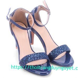 Sandal cao gót bạt kin tuyến